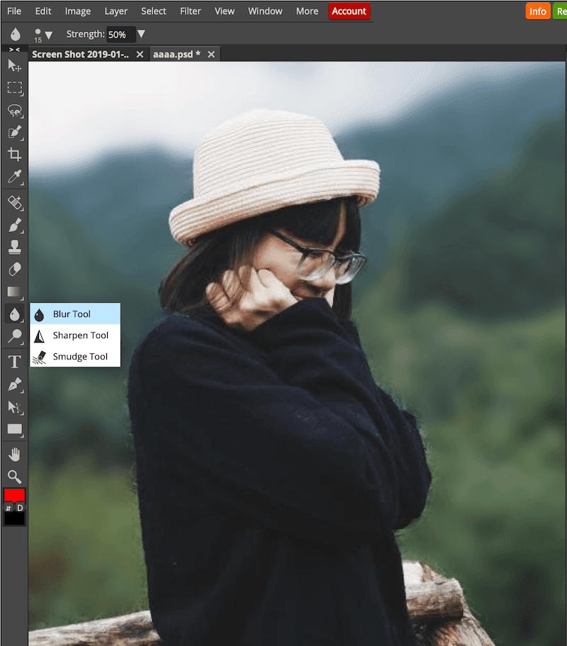 Sử Dụng Blur Để Làm Mờ Nền Trong Photoshop Online